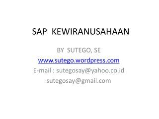 SAP  KEWIRANUSAHAAN