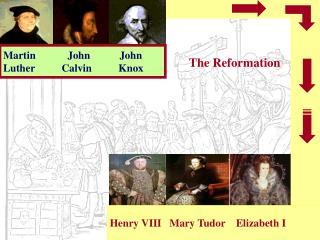 Martin            John           John Luther          Calvin          Knox