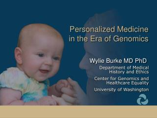 Personalized Medicine  in the Era of Genomics