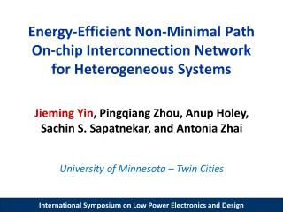 Energy-Efficient Non-Minimal Path  On-chip Interconnection Network for Heterogeneous Systems