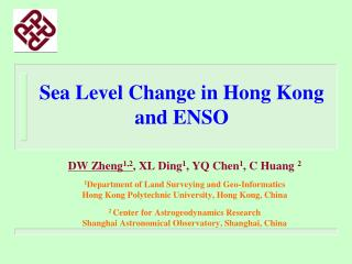 Sea Level Change in Hong Kong  and ENSO