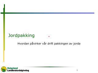 Jordpakking