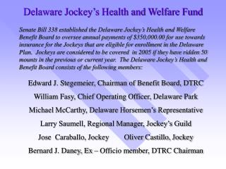 Delaware Jockey's Health and Welfare Fund