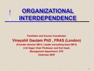 Organizational Interdependence