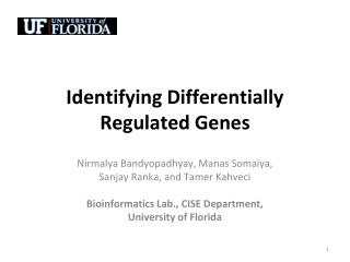 Identifying Differentially Regulated Genes