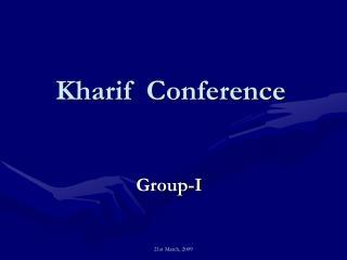 Kharif  Conference