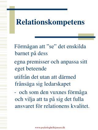 Relationskompetens