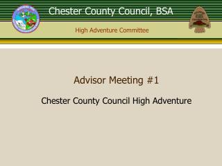 Advisor Meeting #1