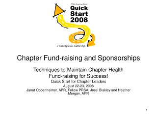 Chapter Fund-raising and Sponsorships