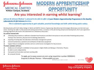Are you interested in earning whilst learning?