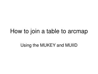 How to join a table to arcmap