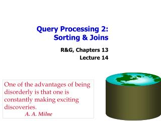 Query Processing 2: Sorting & Joins