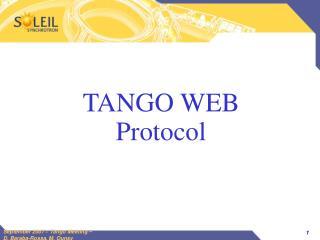 TANGO WEB Protocol