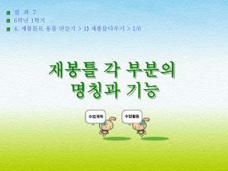 실  과   7   6 학년  1 학기 4.  재봉틀로 용품 만들기  > 1 ) 재봉틀다루기  > 1/6