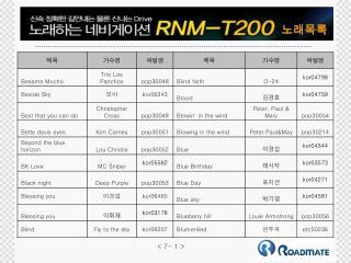 RNM T200 노래목록7(1 53)