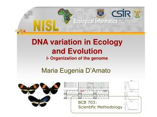 DNA variation in Ecology and Evolution I- Organization of the genome
