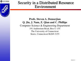 Security in a Distributed Resource Environment