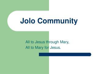 Jolo Community