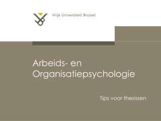 Arbeids- en Organisatiepsychologie