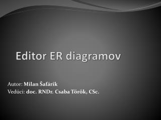 Editor ER  diagramov