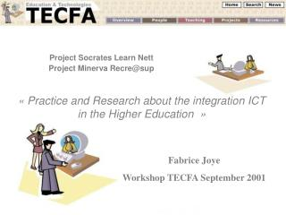 Project Socrates Learn Nett Project Minerva Recre@sup