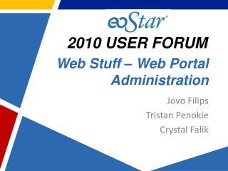 Web Stuff – Web Portal Administration
