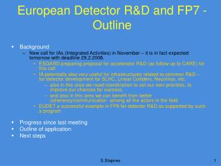 European Detector R&D and FP7 - Outline