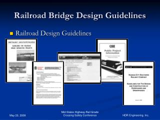 Railroad Design Guidelines