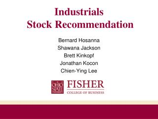 Industrials  Stock Recommendation
