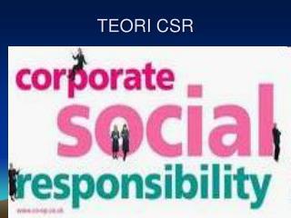TEORI CSR