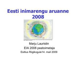 Eesti inimarengu aruanne  2008