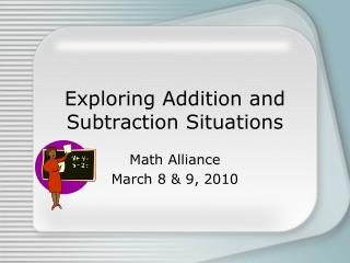 Exploring Addition and Subtraction Situations