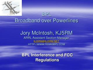 BPL Interference and FCC Regulations