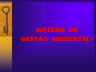 SISTEMA  DE   GESTÃO  AMBIENTAL 1