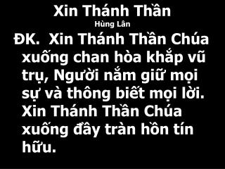 Xin Th�nh Th?n H�ng L�n