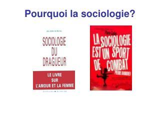 Pourquoi la sociologie?