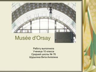 M usée d'Orsay