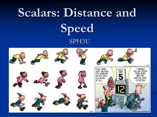 Scalars: Distance and Speed