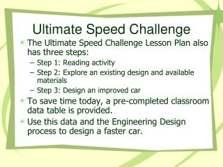 Ultimate Speed Challenge