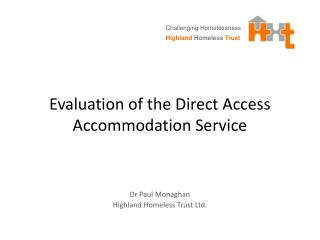 Evaluation of the Direct Access Accommodation Service