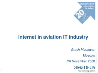 Internet in aviation IT industry Grach Muradyan Moscow 26 November 2008