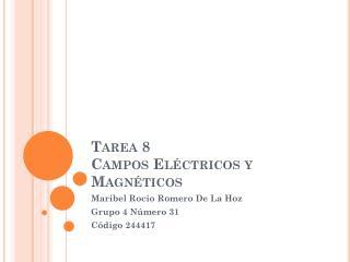 Tarea 8 Campos Eléctricos y Magnéticos