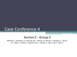 Case Conference 4