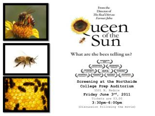 Screening at the Northside College Prep Auditorium 5501 N.  Kedzie Friday June 3 rd , 2011