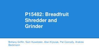 P15482: Breadfruit Shredder and Grinder