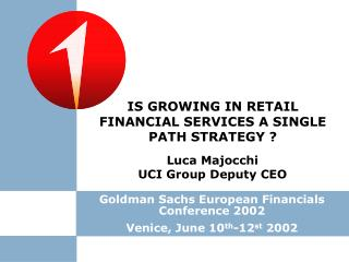 Luca Majocchi UCI Group Deputy CEO