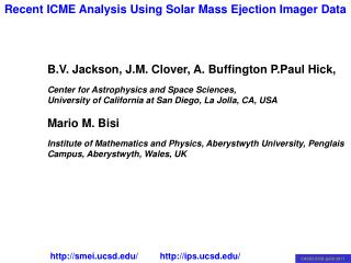 B.V. Jackson, J.M. Clover, A. Buffington P.Paul Hick,
