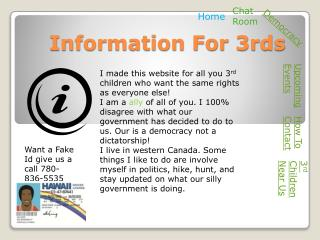 Information For 3rds