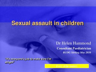 Sexual assault in children