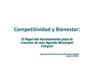 Competitividad  y Bienestar: